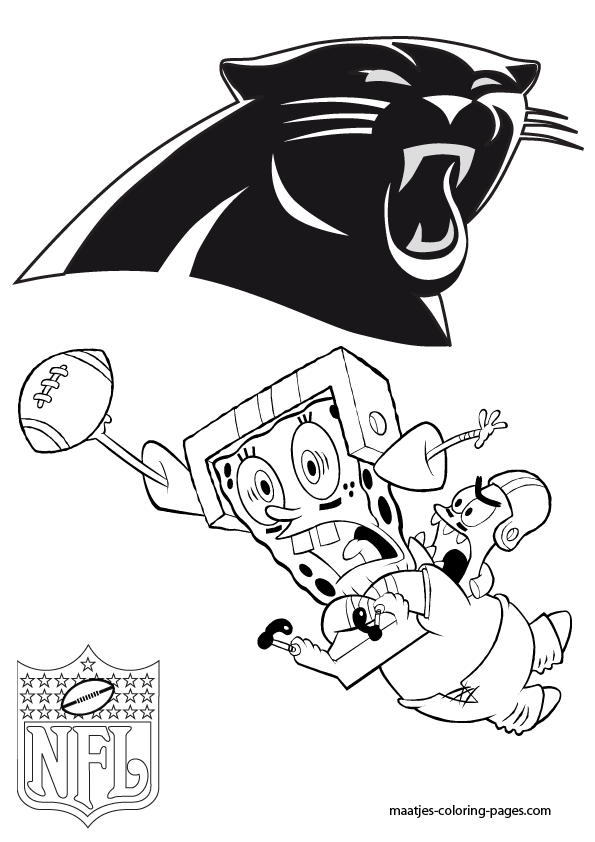 Carolina panthers football jersey pages coloring pages for Panthers football coloring pages
