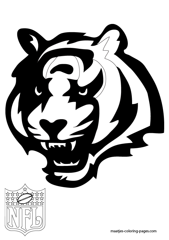 Cincinnati bengals free coloring pages for Nfl coloring pages