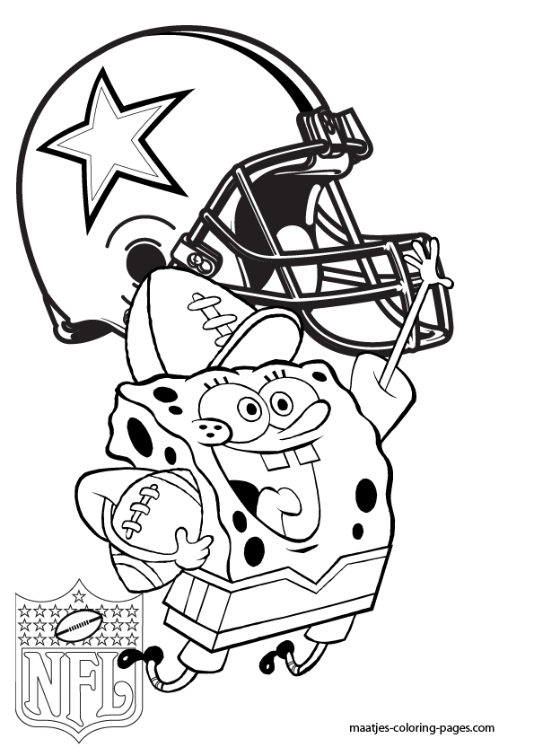 Dallas Cowboys Spongebob Coloring Pages