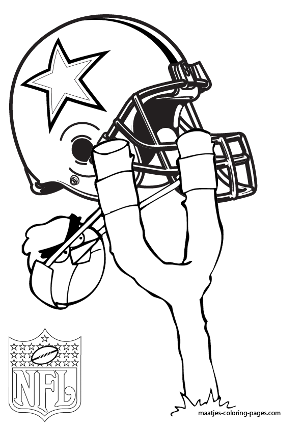 free nfl coloring pages - cowboys the football team free coloring pages