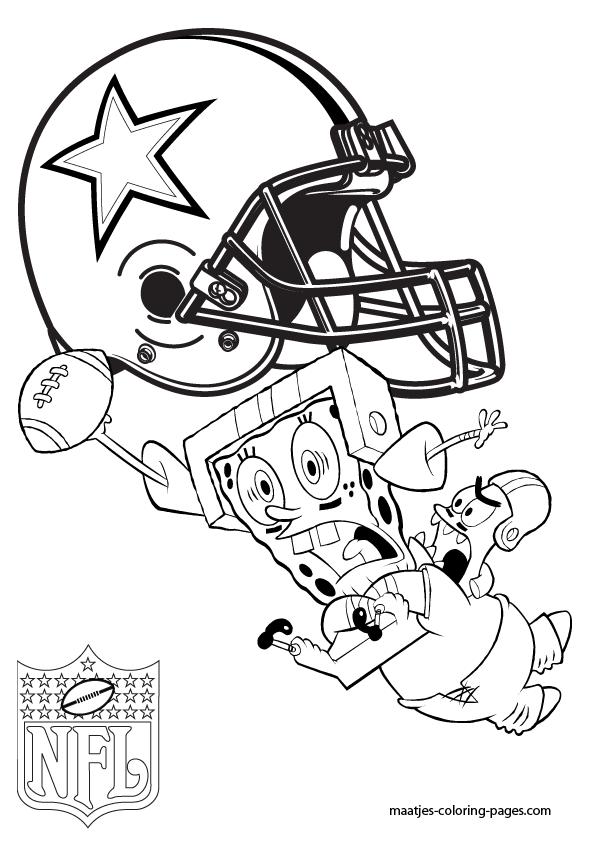 Dallas Cowboys - Patrick and Spongebob - Coloring Pages