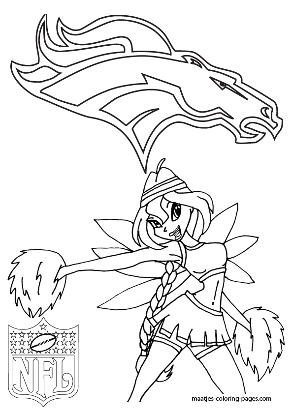 Thunder Denver Broncos Coloring Pages Coloring Pages Broncos Coloring Pages