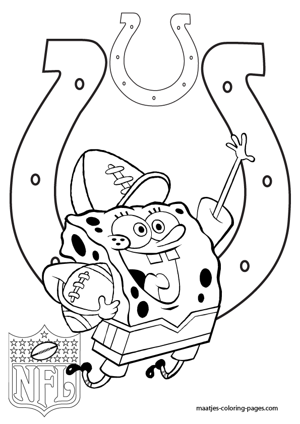 printable colts coloring pages - indinaplis colts free coloring pages