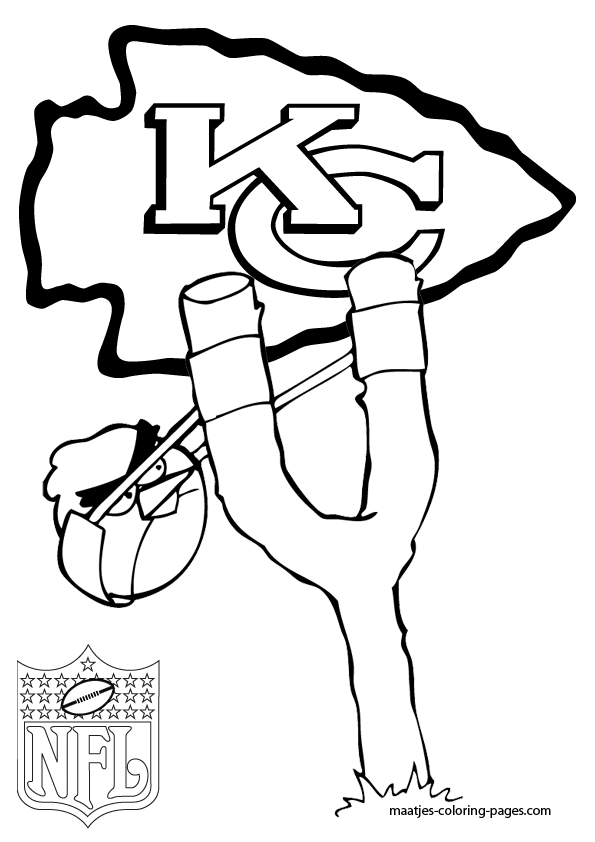 chiefs coloring pages - kansas city chiefs angry birds coloring pages