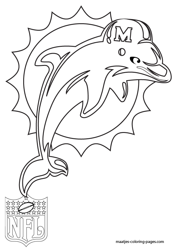 miami dolphin logo coloring pages miami dolphins logo coloring page sketch coloring page