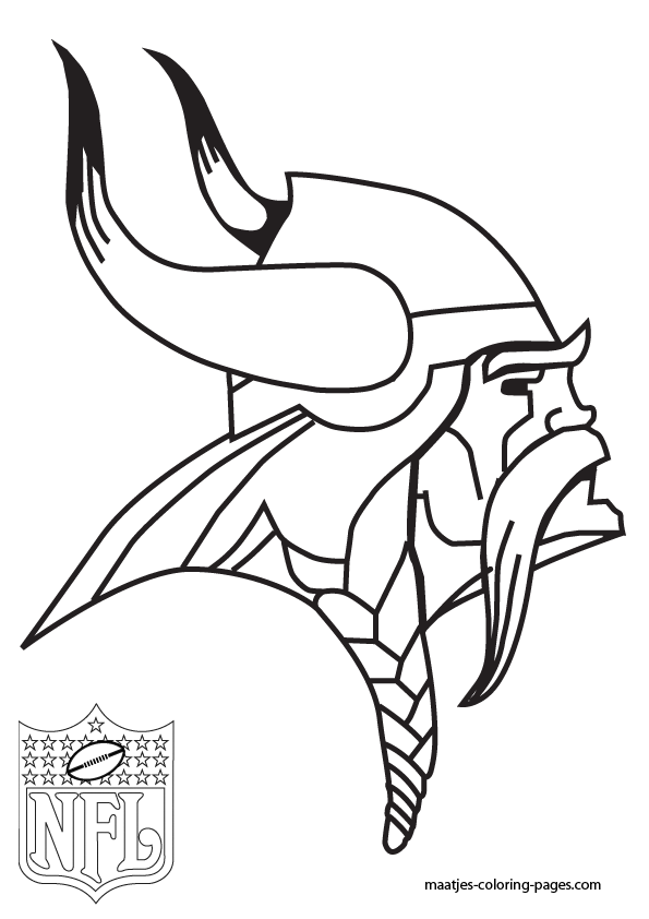Nfl Vikings Coloring Pages
