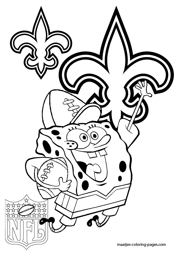 New orleans saints spongebob coloring pages for Saints coloring pages to print