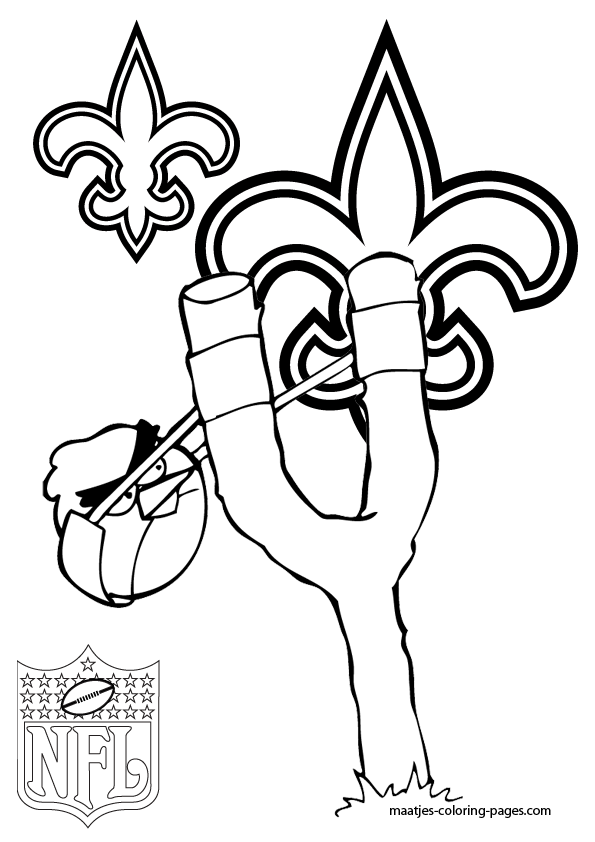 saints football coloring pages - photo#4