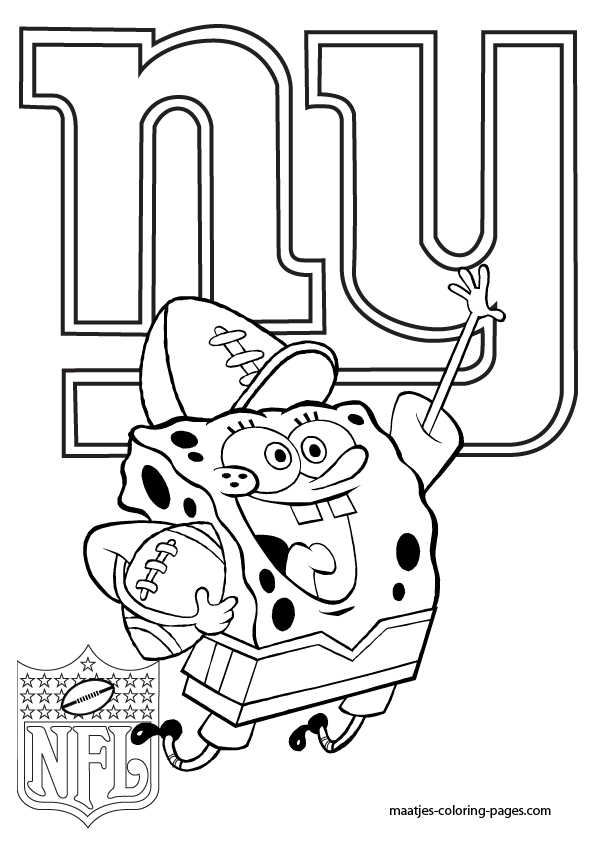 ny giants coloring pages - photo#6