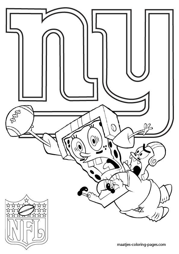 ny giants coloring pages - photo#8