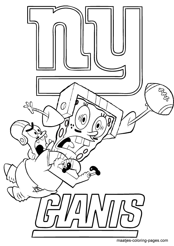 new york giantsspongebob and