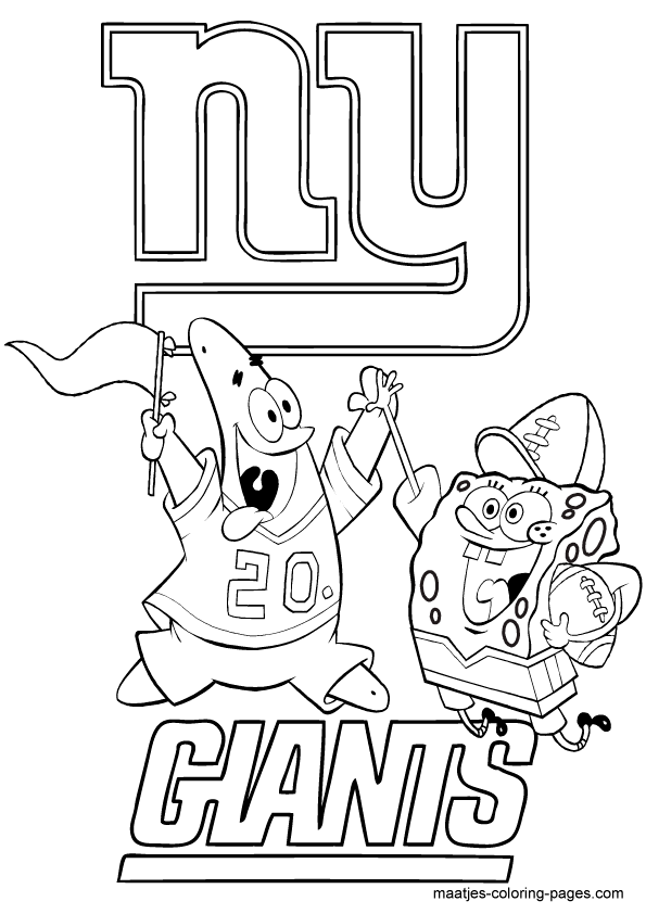 ny giants coloring pages - photo#5