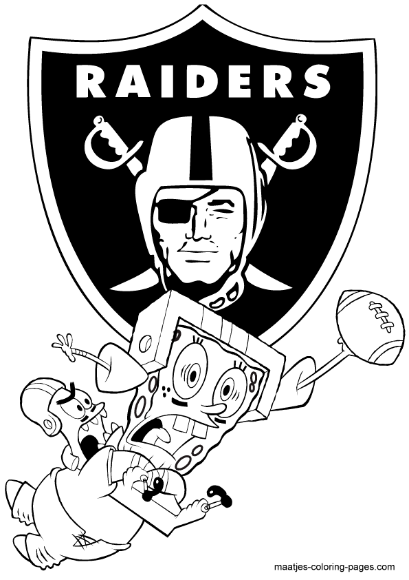 Oaklandraiders free colouring pages for Oakland raiders logo coloring page