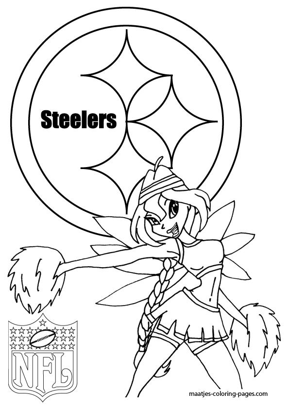 pittsburgh steelers winx cheerleader coloring pages