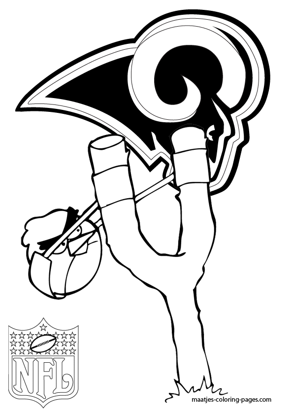 St Louis Rams Angry Birds Coloring Pages