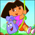 Dora the Explorer coloring pages for girls