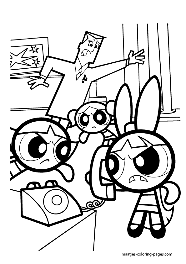 powderpuff boys coloring pages - photo #45