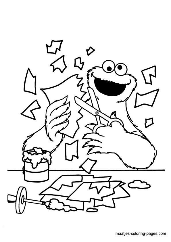 Sesame Street mini coloring books. Cookie Monster || COLORING-PAGES- PRINTABLE.COM | 842x595