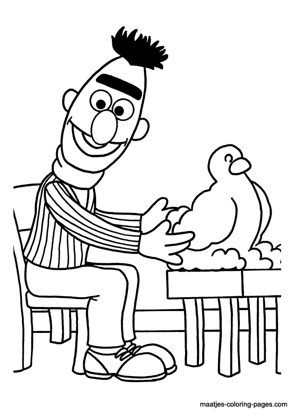 Sesame Street Characters coloring page | Free Printable Coloring Pages | 842x595