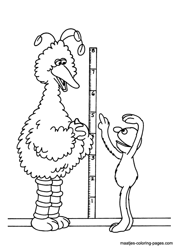 Sesame Street printable coloring page - Coloring Library | 842x595