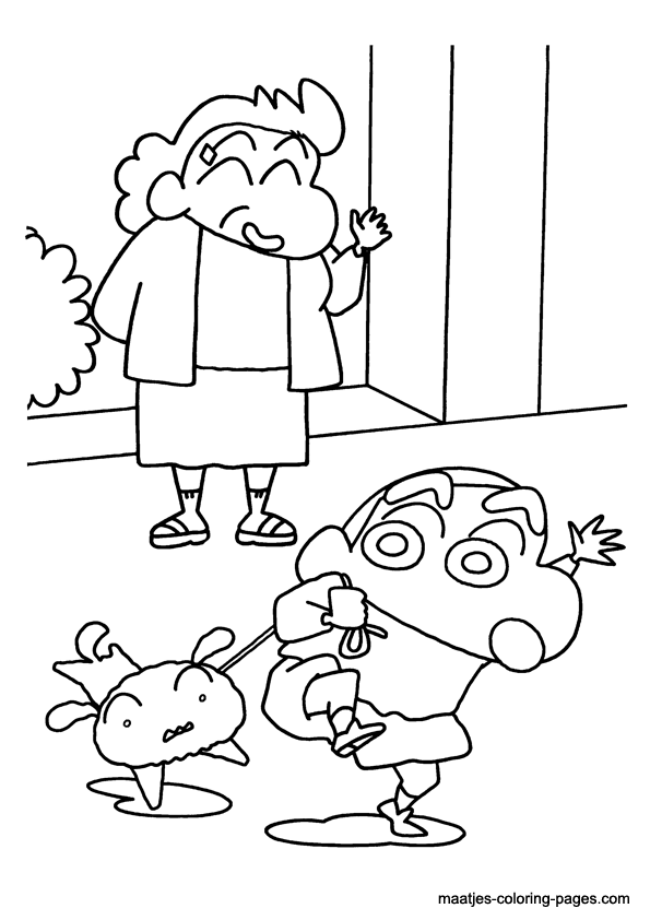 Shin Free Colouring Pages Shin Chan Coloring Pages