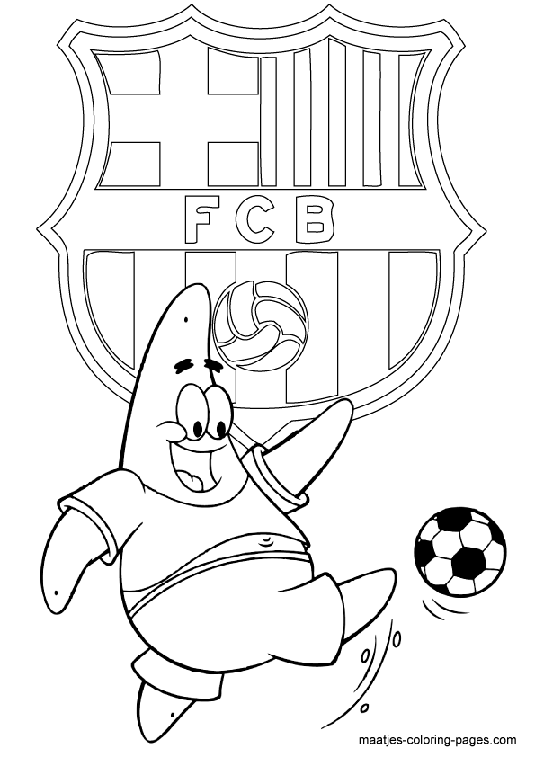coloring pages barcelona fc schedule - photo#12