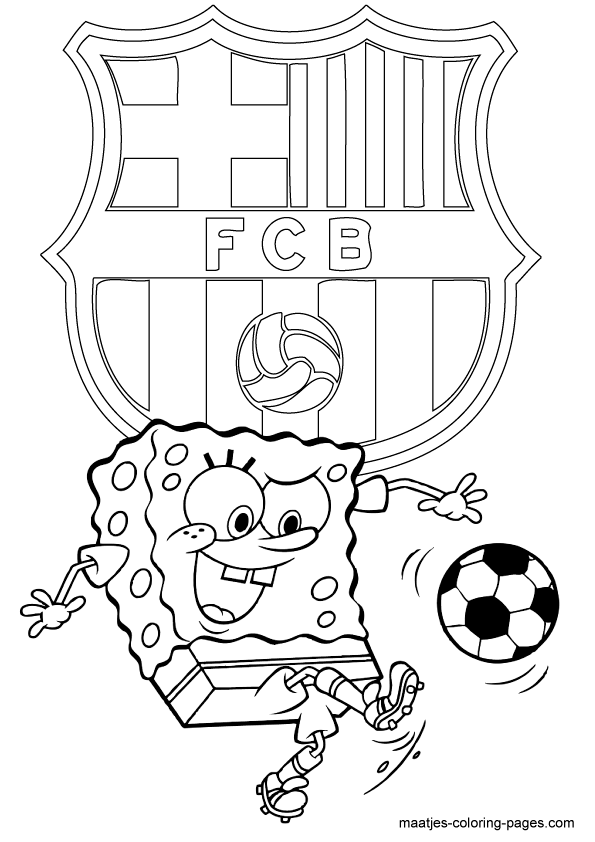 coloring pages barcelona fc schedule - photo#9