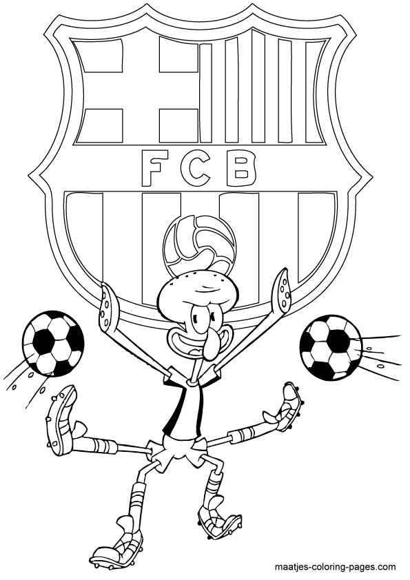 coloring pages barcelona fc schedule - photo#17