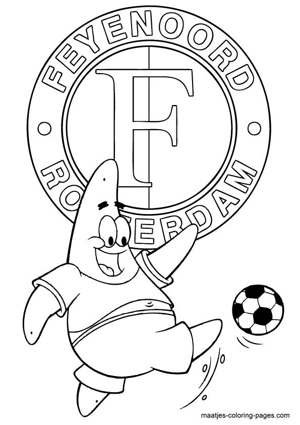 Meiden Paard Kleurplaten Kleurplaat Voetbal Logo Az Az Logo Kleurplaat Eredivisie