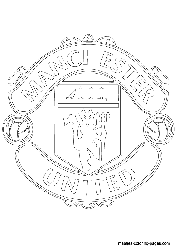 Manchester United Soccer Club Logo Coloring Page Manchester United Colouring Pages