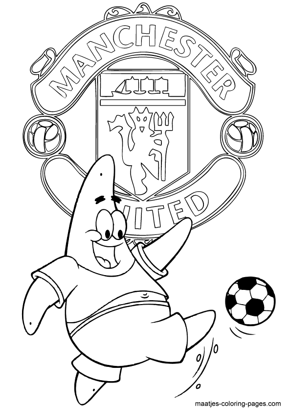 Man united free colouring pages for Manchester united coloring pages