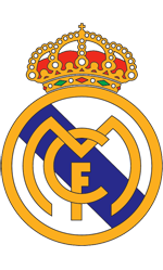Real Madrid soccer club logo coloring page