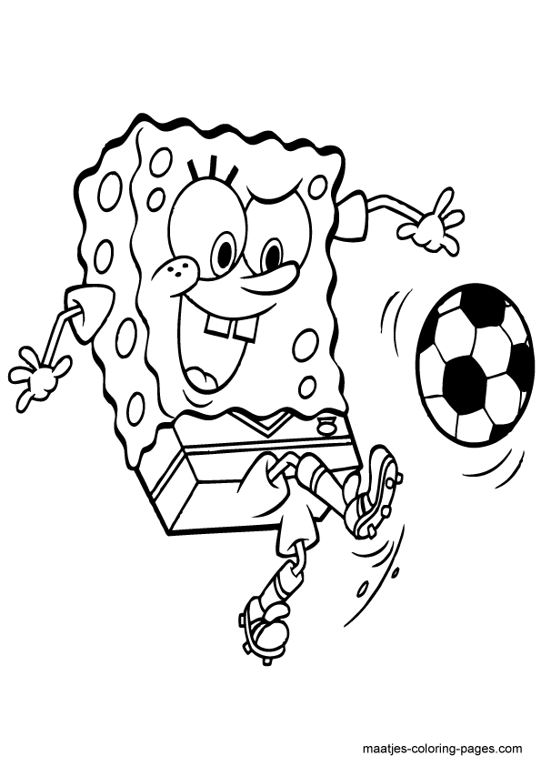 Spongebob Coloring Pages To Print Black White Pictures to Pin on