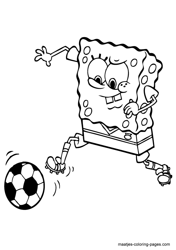 spongebob squarepants playing soccer
