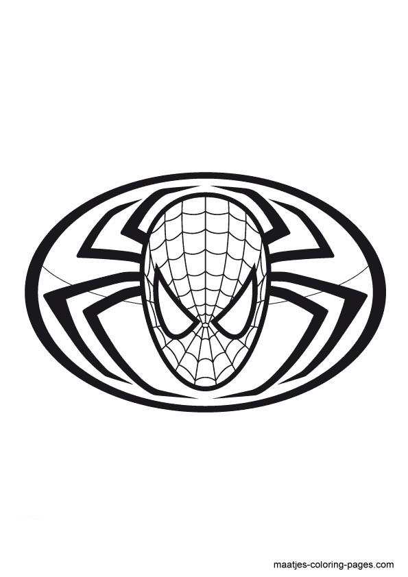 coloring pages spiderman easy symbol - photo#6