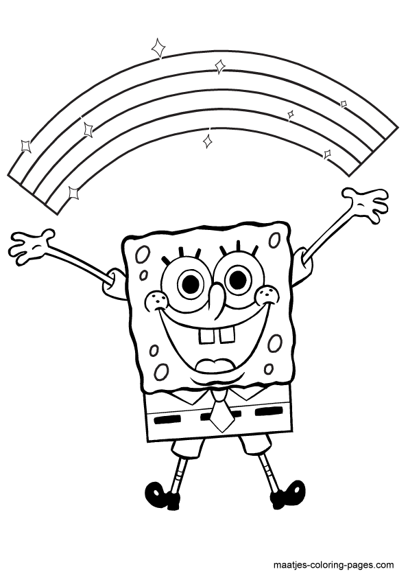 Spongebob Characters Coloring Pages - Coloring Home   842x595