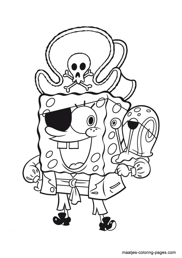 halloween spongebob coloring pages - photo#11