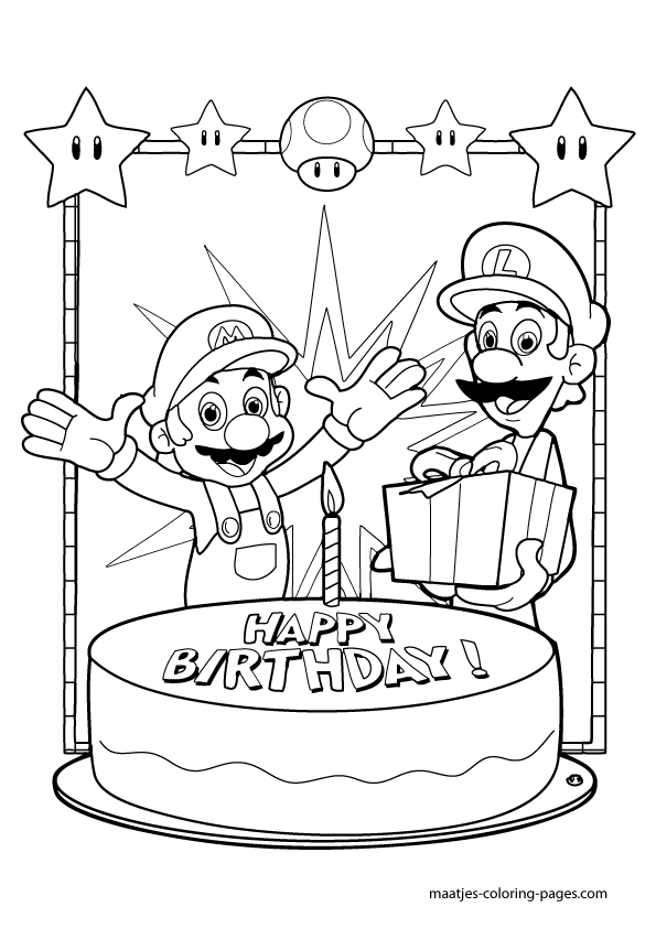 mario 64 coloring pages - photo#4