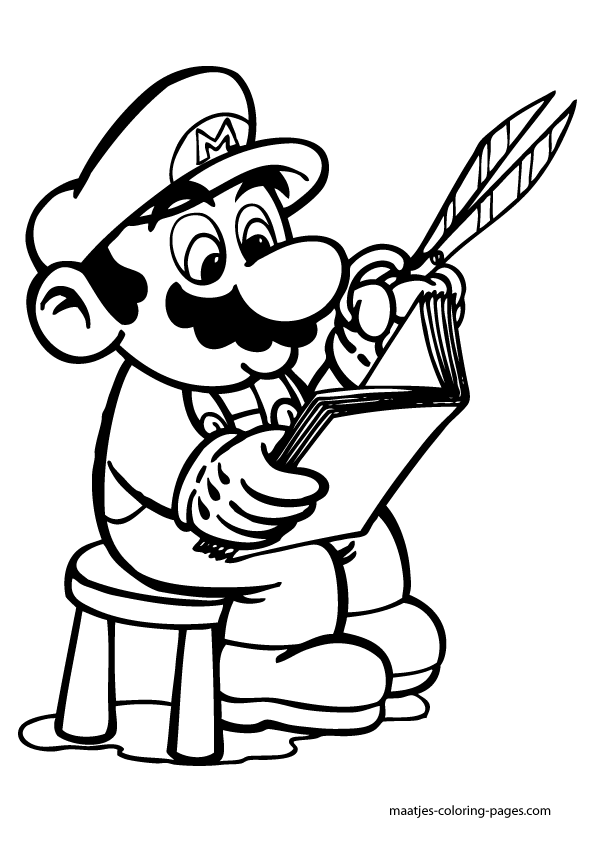mario 64 coloring pages - photo#25