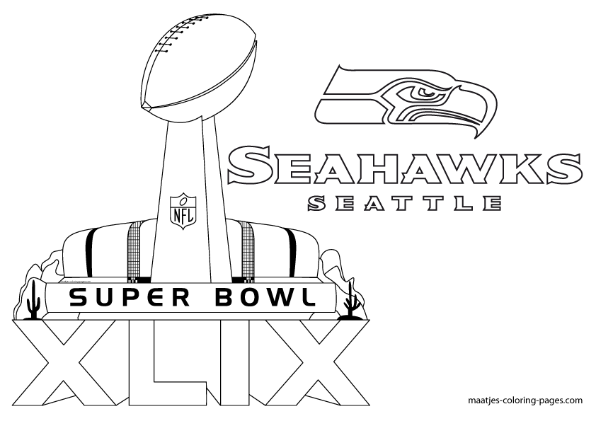 Seahawks Football Coloring Pages Seahawks Coloring Pages
