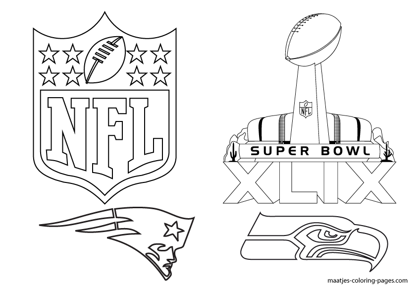 Free Printable Super Bowl XLIX coloring pages