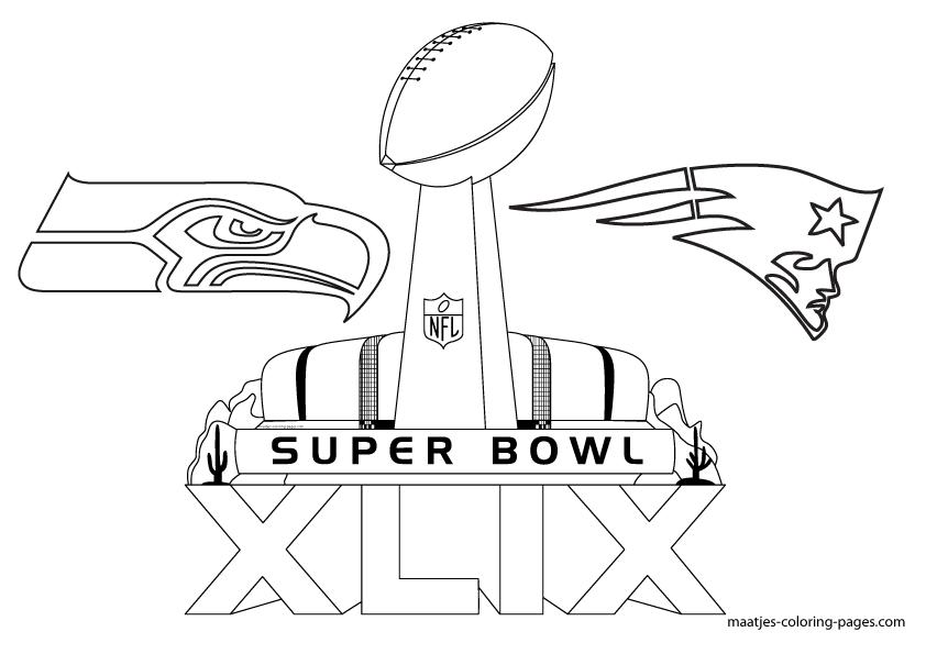 super bowl 43 coloring pages   Free Printable Super Bowl XLIX coloring pages