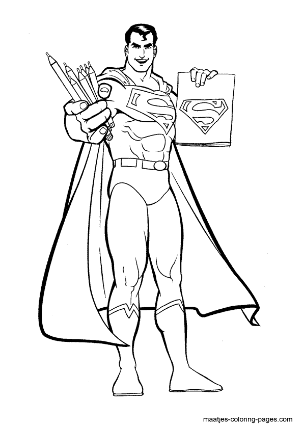 superman shield colouring pages