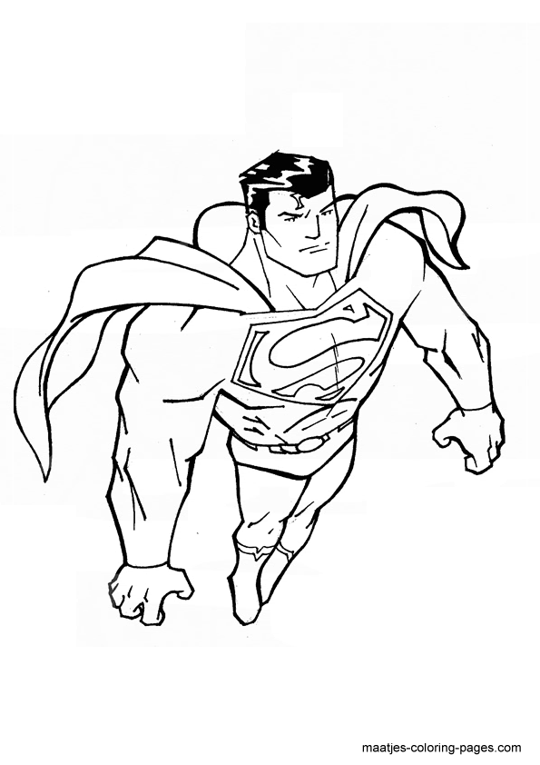 Superman Free Printable Coloring Pages Overview 1