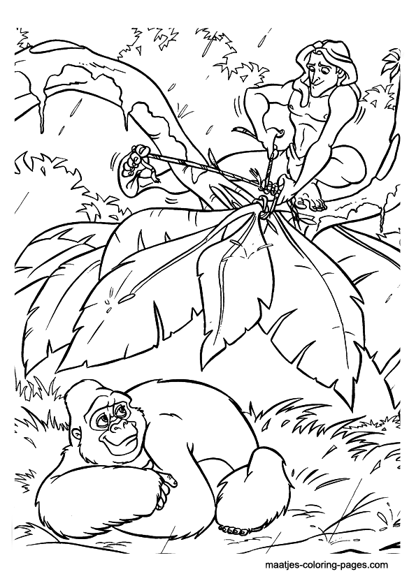 images tarzan coloring pages - photo#44