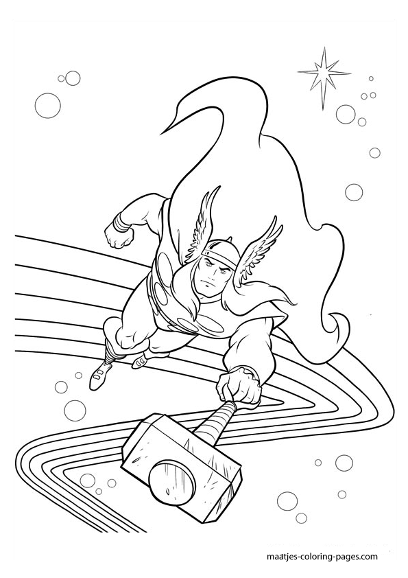Superhero Printable Coloring Pages Thor Coloring Pages ... | 842x595
