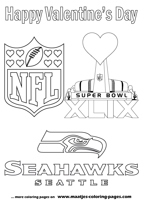 Superbowl Valentine s Day coloring pages
