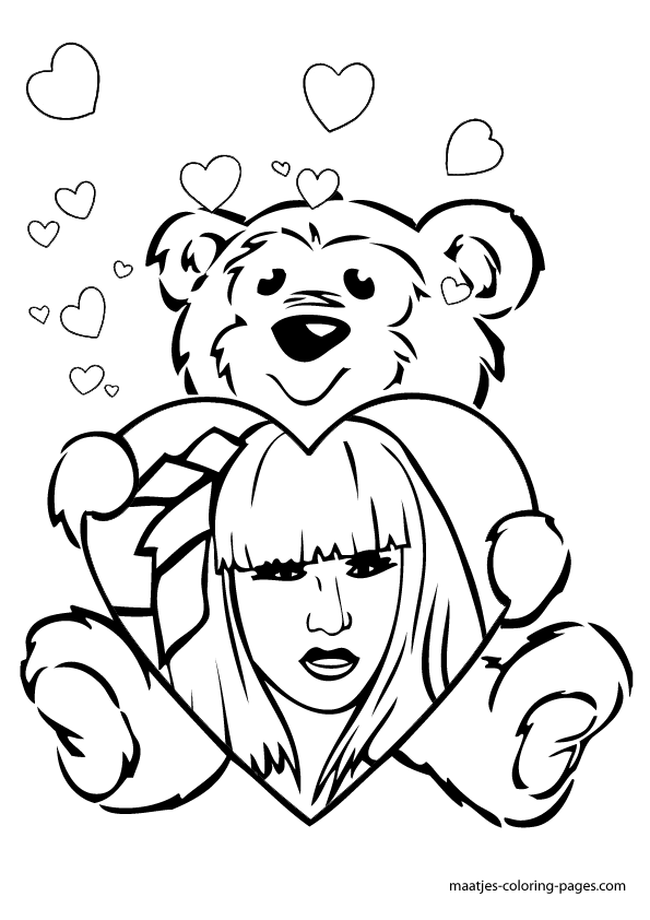 Lady Gaga Valentines Day Coloring Pages