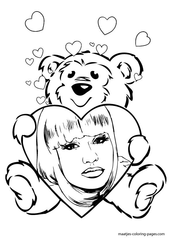 Nicki Minaj Coloring Pages To Print Coloring Pages Nicki Minaj Coloring Pages