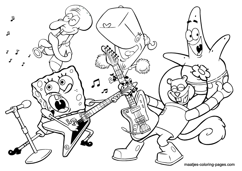Band free coloring pages for Rock band coloring pages